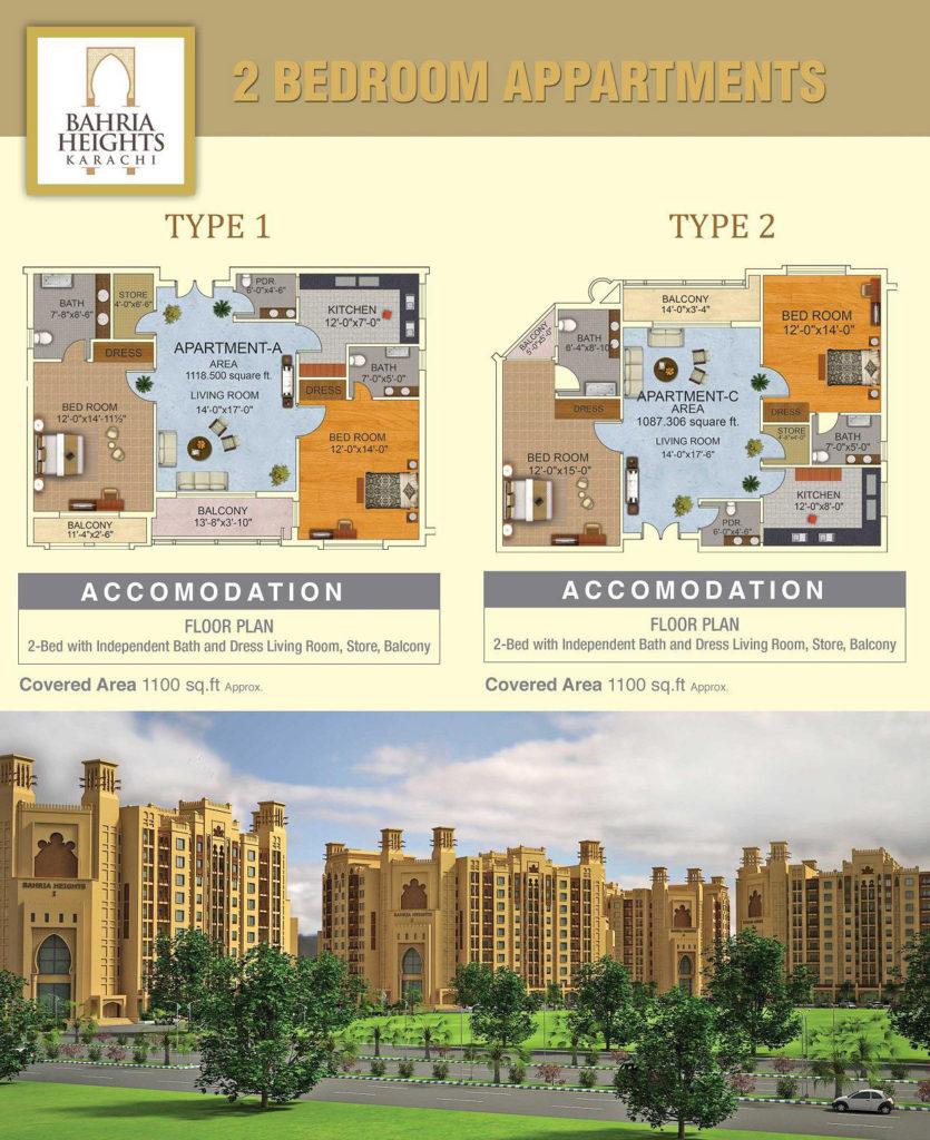Bahria Heights Karachi Floor Plan