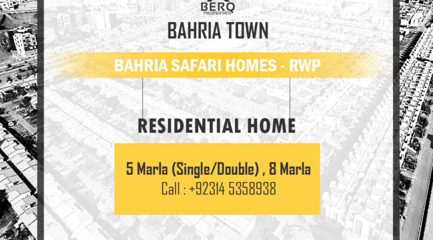 Bahria Safari homes