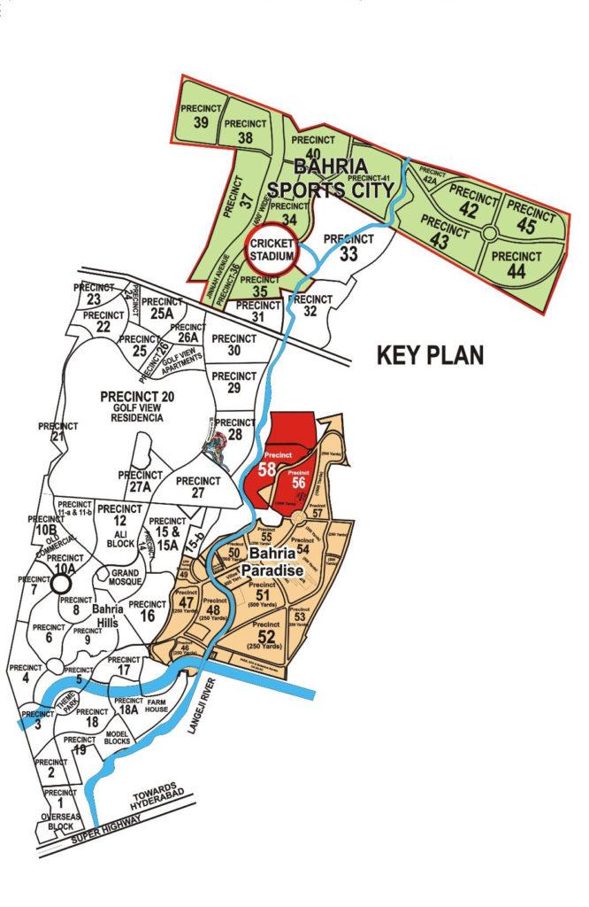 Bahria Town Karachi Master Plan Map