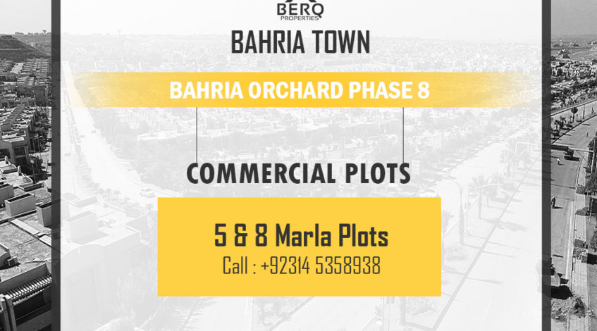 Bahria Orchard phase 8 Commercial Plots Rawalpindi