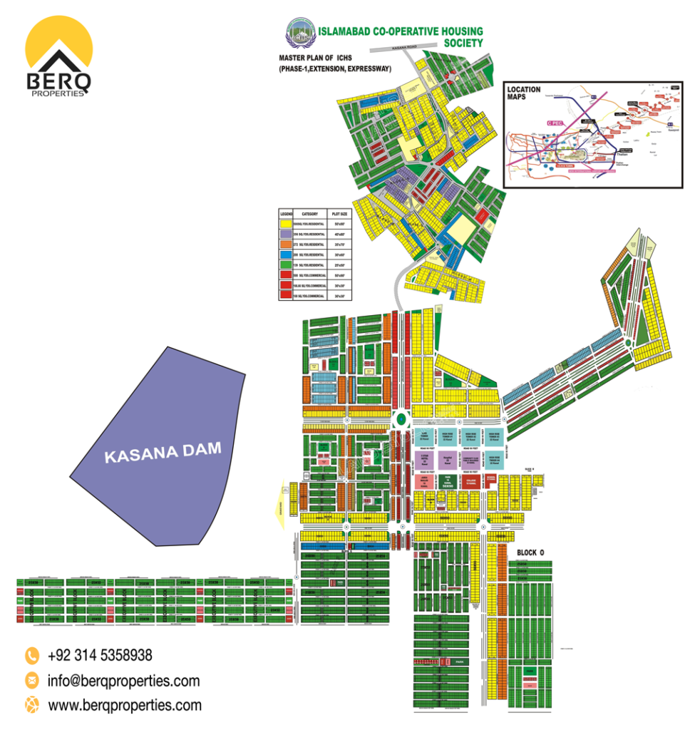 ICHS Town Islamabad Map