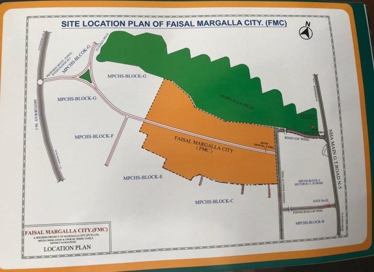 Faisal Margalla City - Location Map