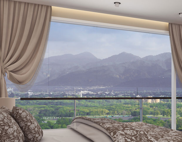 ukh chayn islamabad - Double-glazed-windos-with-picturesque-view