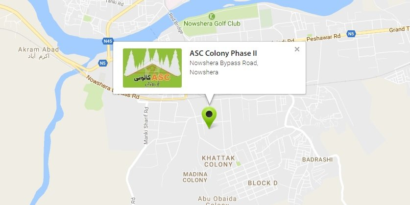 Asc Colony Nowshera Phase 2 - Location Map