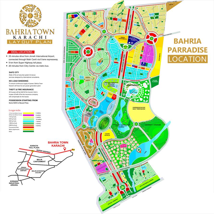 Bahria Paradise map