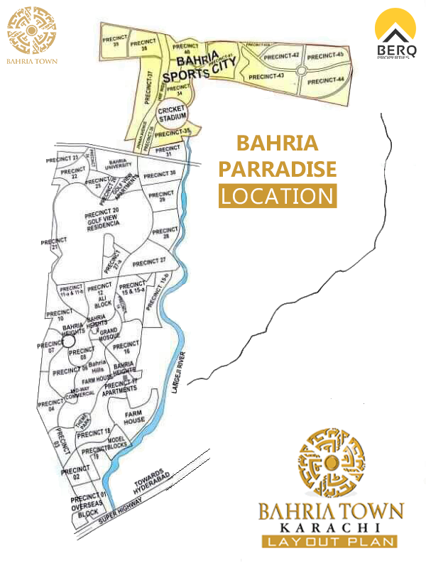 Bahria Paradise Map