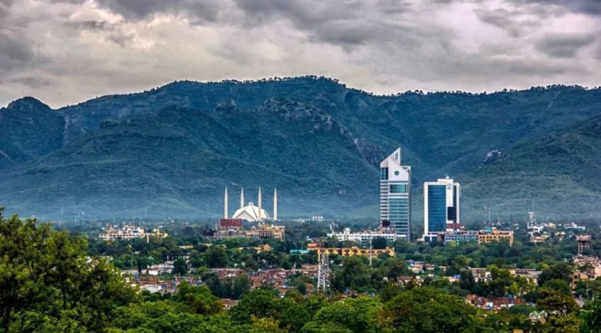 Which Societies in Islamabad fared the best in first half of 2018?