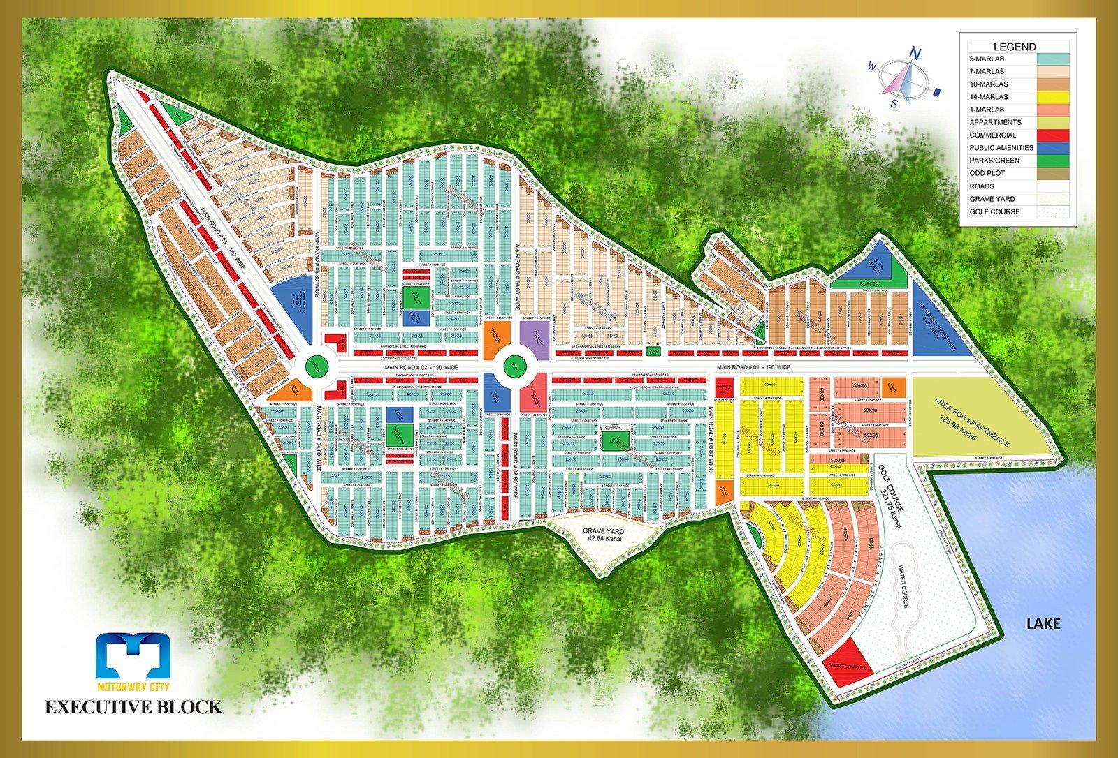 Motorway City Islamabad - Executive Block Map