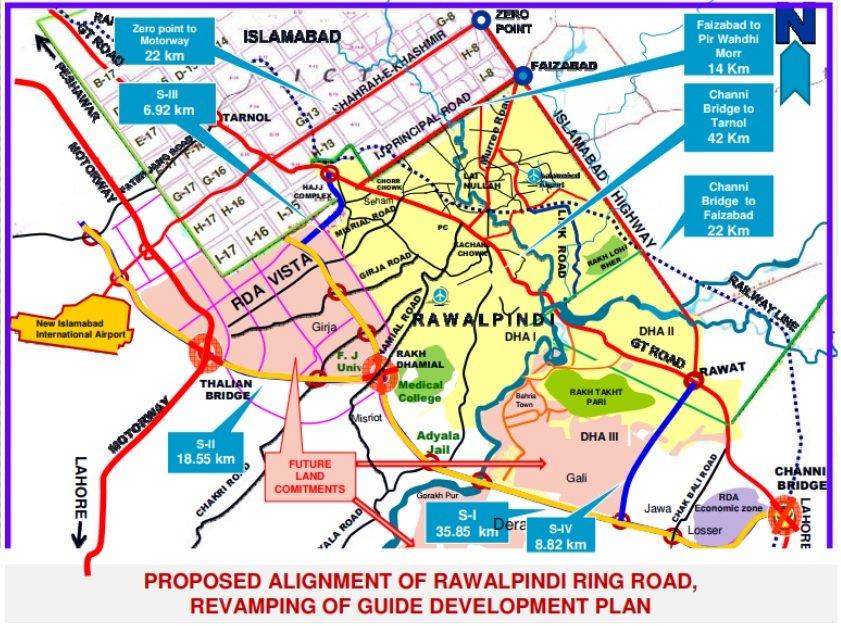 Rawalpindi Ring Road Guide Map